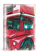 London Bus - 01, Canvas Print
