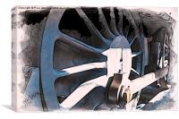 Train Wheel -01, Canvas Print