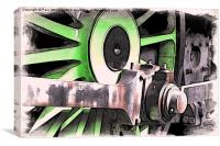 Train Wheel -02, Canvas Print