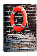 Lifebuoy and Barrel, Canvas Print