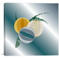 gems and jewels for Christmas, Canvas Print