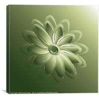 green petals, Canvas Print