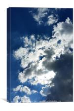 Only clouds, Canvas Print