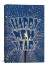New Year's Lights, Canvas Print