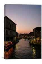 Venice Canal at Dusk, Canvas Print