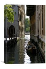 Quiet Canal in Venice, Canvas Print