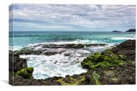 View from Secret Beach, Canvas Print