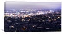 Los Angeles Nightscape No. 2, Canvas Print