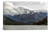 Clouds Over Mt Gould, Canvas Print