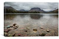 Two Medicine Lake - Glacier NP, Canvas Print