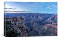 Early Evening at the Grand Canyon No. 1, Canvas Print