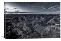 Early Evening at the Grand Canyon No. 1 bw, Canvas Print