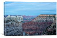 Early Evening at Grand Canyon No. 2, Canvas Print