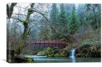 Bridge Over Hackleman Creek, No. 2, Canvas Print