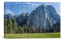 Cathedral Rock Yosemite, Canvas Print