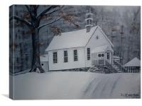 Old Gates Chapel, Canvas Print