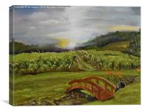 Sunshine Bridge in Cartecay , Canvas Print