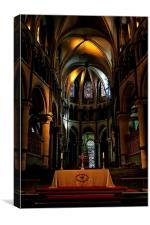 Inside Canterbury Cathedral, Canvas Print