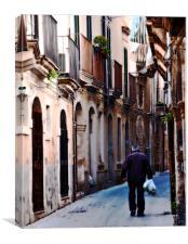 Sicilian Street, Canvas Print
