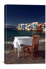Sea View in Mykonos, Canvas Print