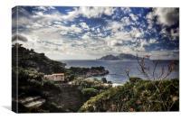 View of Capri, Canvas Print