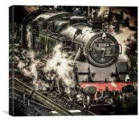 Steam Train at Swanage, Canvas Print