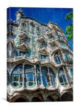 Casa Batllo, Gaudi, Barcelona, Canvas Print