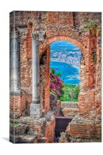 Taormina, Sicily, Italy, Canvas Print