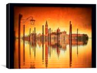 Flooded Venice, Canvas Print