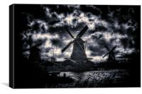 The Old Windmills, Canvas Print