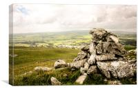 Limestone Cairn, Overlooking Settle, Canvas Print
