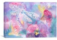 Dance of the Dragonfly, Canvas Print