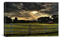 Breaking Sun In The Mountains Of North Carolina, Canvas Print