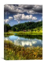 A Pond Reflection, Canvas Print
