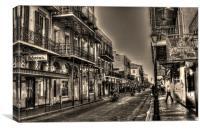 Bourbon Street Ride, Canvas Print