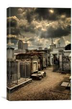 Cloudy Day at St. Louis Cemetery, Canvas Print