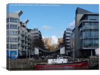 Bristol Dockside, Canvas Print