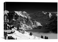 Epic alpine walls, Canvas Print