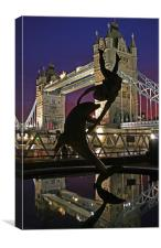 Towering performance, Canvas Print
