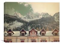 Grand hotel Chamonix, Canvas Print