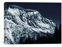 The Grandes Jorasses from Courmayeur, Canvas Print