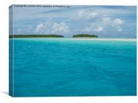 pacific lagoon view, Canvas Print