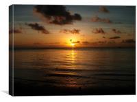 pacific island sunset, Canvas Print