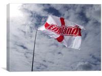 England flag in sunlight, Canvas Print