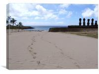 Ahu Nao-Na Anakena beach, Canvas Print