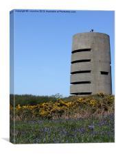 Pleinmont Tower Guernsey, Canvas Print
