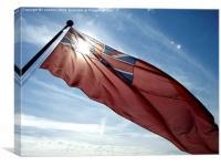 sun through red ensign, Canvas Print
