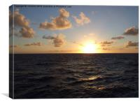 sunrise in marquesas, Canvas Print