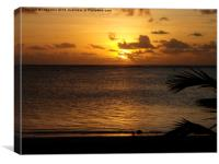 sunset from Aitutaki runway, Canvas Print