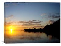 sunset on Tahiti, Canvas Print